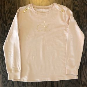 Calvin Klein Long Sleeve blush pink top size M